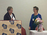 Welcoming the new WAFCS president Cindy Quilling
